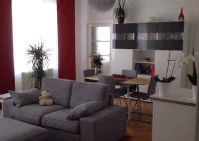 Oberzellergasse, 1030 Wien<br> Wohnungsumbauten mit Optimierung des Platzangebotes, Begleitung von der Planung bis zur finalen Einrichtung und Bezug